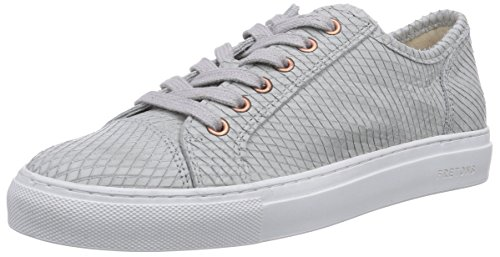 Fretons by Fred de la Bretoniere Fretons woman lace up shoe Serena white sole, Low-Top Sneaker donna, Grigio (Grau (Alabastro)), 42