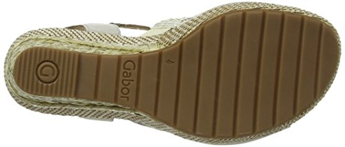 Gabor 22823, Damen Sandalen Beige (Beige Leather/Cream Vipera)