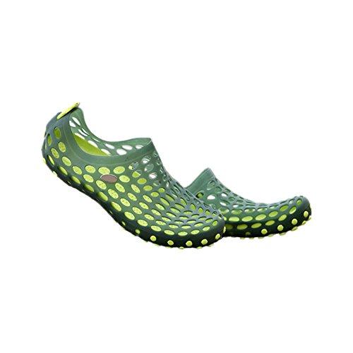 Haodasi Männer Höhle ausholen Sandalen Atmungsaktiv Strandschuhe Hausschuhe Cool Schuhe Grün