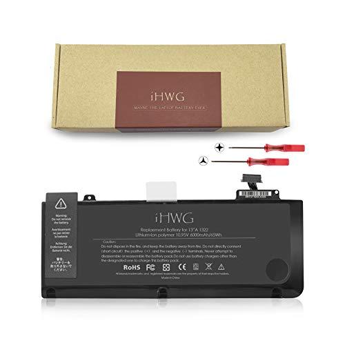 iHWG A1322 Batterie (10.95V/6000mAh/65Wh) (Version améliorée) pour A1278 Apple MacBook Pro 13 Pouces (2012 2011 2010 2009)