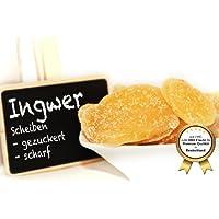 """Ingwer Scheiben, kandiert - 1001 Frucht - Ingwer - """"Top Qualität"""" - EXCLUSIVE - Nüsse – Trockenfrüchte – Gewürze - 1000 GR"""