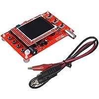 DoMoment Rot 10mV / Div - 5V / Div Eingebautes 1KHz / 3.3V Testsignal DSO138 gelötet Pocket-Größe Digital-Oszilloskop Kit DIY Teile elektronisch