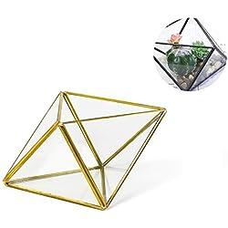 Florero Moderno Hecho a Mano geométrico forma de Diamante para decoración de mesas de centro