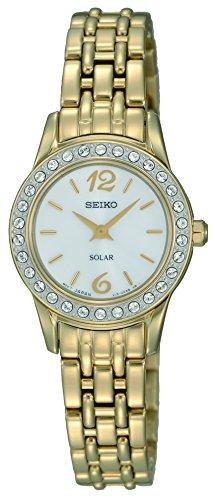 Seiko Damen Analog Solar Uhr mit Edelstahl Armband SUP128P9 - Damen Seiko Solar Uhr