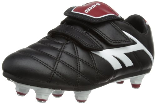 Hi-Tec Unisex League Pro Si Ez Junior Football Shoes - Black (Black/White/Red 021), 11 Child UK (30 EU)