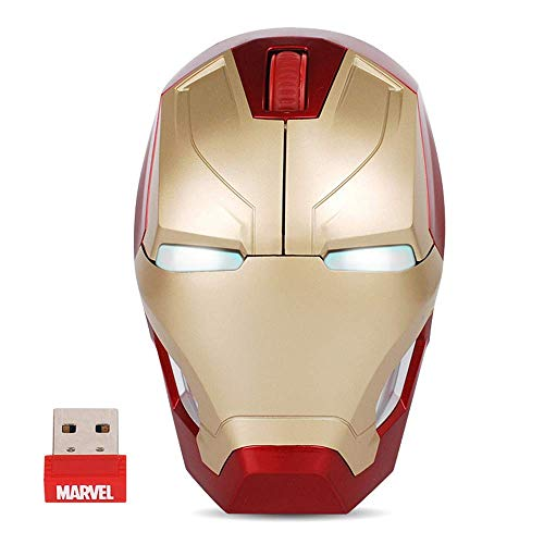 Cool Design Wireless Gaming Maus Iron Man Black Panther Star Lord Ant Man Tree Man mit PC Laptop Notebook 2,4 G USB Unifying Receiver Wireless Maus