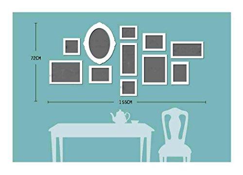 Preisvergleich Produktbild Wohnzimmer Schlafzimmer Sofa Foto Wand Massivholz Rahmen Wand Kind Wärme Kreativ Rahmen Kombination Romantische Begleiter Begegnung Zeit kann nicht zu leben, um zu leben ( Farbe : A )