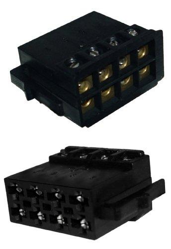 ecker Adapter für Lautsprecher, schraubbare Version (Autoradio Iso)