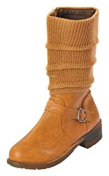 Shuberry Womens Latest Collection, Comfortable & Fashionable Tan Slouch Boots - 41 EU