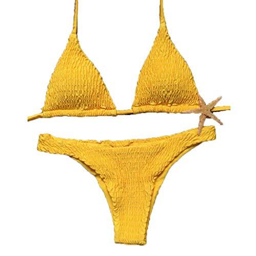Darringls Traje De Baño Mujer Sexy Bañador de Baño Conjunto de Bikini Push up Sujetador Acolchado...