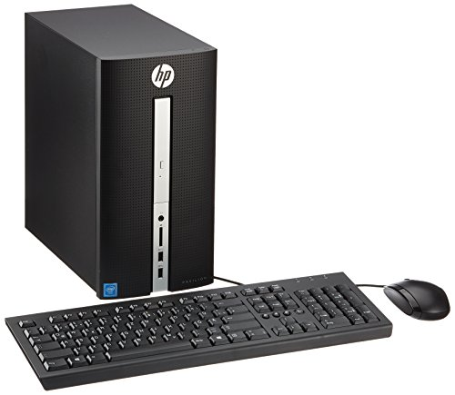 HP Pavilion 570-a068ng Desktop-PC (Intel Celeron J3355, 8GB RAM, 256GB SSD, DVD, Windows 10) schwarz (Pc Hp Tower Wlan)