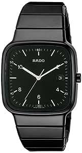 Rado Men's R5.5 36mm Black Ceramic Band & Case Sapphire Crystal Swiss Quartz Analog Watch R28888162