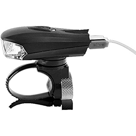 Sensores inteligentes bicicleta–resistente al agua USB recargable para bicicleta lámpara de luz
