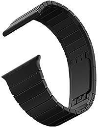 Apple Watch Bracelet, JETech 42mm Acier Inoxydable Bracelet Lien avec Fermeture Papillon Remplacement Band Strap pour Apple Watch Tous les modèles 42mm (Noir) - 2219