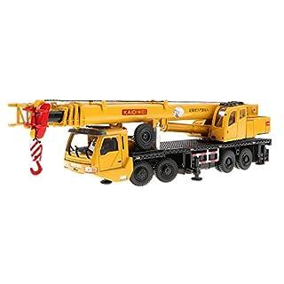 Baoblaze 1:55 Scale 1/87 Machinery Crawler Tower Cable Excavator Diecast Crane Model