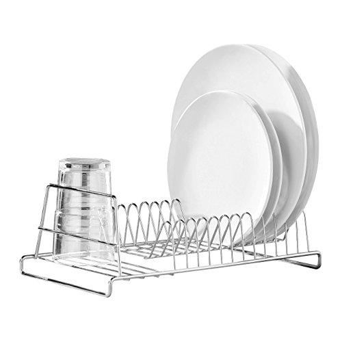 Premier Housewares Kleine Vorratsdose, Glas, Edelstahl gebürstet, 850ml