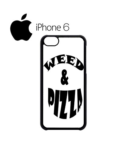 Weed and Pizza Cocaine and Caviar Swag Mobile Phone Case Back Cover Hülle Weiß Schwarz for iPhone 6 White Weiß
