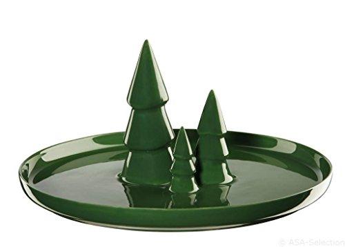 ASA Assiette, Céramique, Vert, 30 cm cm