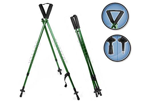 SUTTER Bastón telescópico y trípode de Caza con rampa para Rifles, Ajustable: 84 - 180 cm, trípode para Caza y Tiro