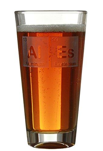 Celery Street Beeriodic Table Bier- / Cidre-Gläser mit Periodensystem für Geburtstage/Jubiläen (Ales) Al Es
