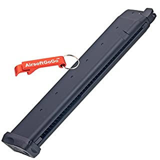 APS D-Mod Co2 40rds Long Magazine for Marui G17 / G18c, APS ACP601 & D-Mod Deluxe Airsoft GBB - Keychain Included