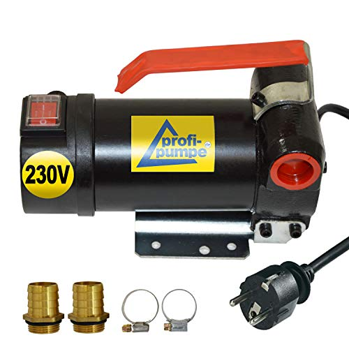 230V Dieselpumpe Heizölpumpe Biodiesel-Pumpe Ölpumpe Diesel Star 160 mit Anschluss Elektro Fasspumpe, Leistungsstarker Motor mit Kupferwicklung 2stk. Tüllen zum Super-Preis (Motor-pumpe)