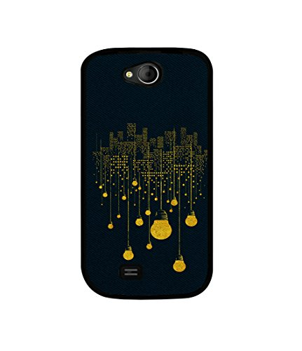 Casotec City Light Pattern Design Canvas Printed Soft TPU Back Case Cover for Micromax Canvas Elanza A93  available at amazon for Rs.349