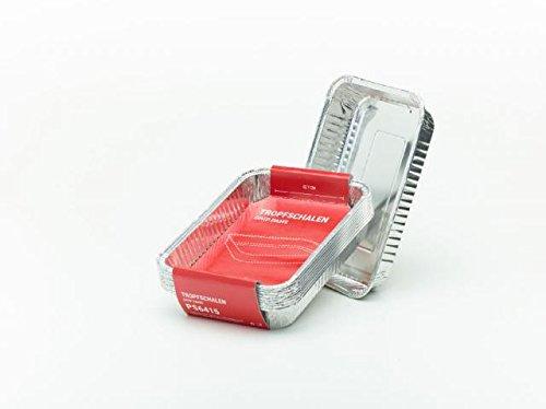 Profi - Bac récupérateur de graisse barquettes en aluminium petit Lot de 10 19,1 x 12,7 x 3,6 cm pour barbecue à gaz