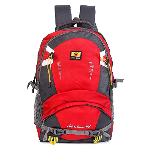 World Speed Trendy Stylish Travel 28 L Laptop Backpack (Red)