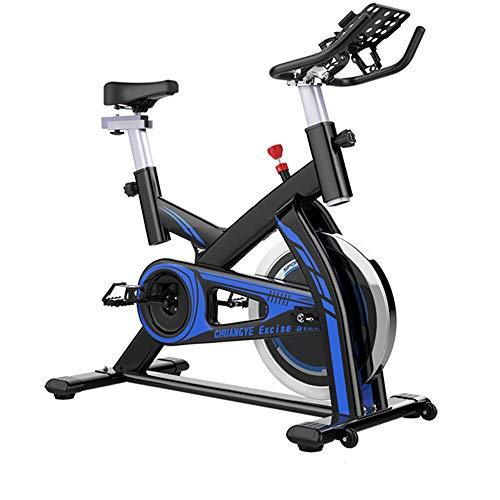 YUSDP Magnetisches stationäres Fahrrad mit LCD-Monitor - Silent Belt Transmission Design - Einstellbarer magnetischer Widerstand - Einstellbarer Sitz mit hoher Kapazität