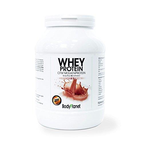 Bodyplanet Whey Protein (Banane 750g) ->100% CFM Molkenprotein/Ideal Muskelaufbau/Low Carb Low Fat/Cholesterin und Purin Frei/Made in Germany/Pharmazeutische Qualität