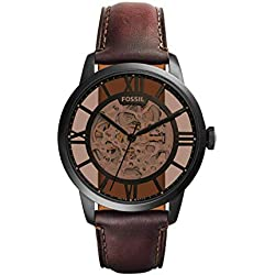 Fossil Men's Townsman ME3098 Brown Leather Automatic Dress Watch