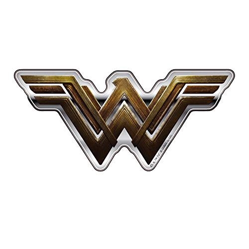 Fan Emblems Wonder Woman Logo Auto Aufkleber gewölbt / Multicolor / Chrome Finish, Batman Superman: Dawn of Justice BvS Automotive Emblem Gilt leicht für Autos, Motorräder, Laptops, Handys, etc.