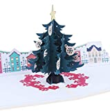 XINGUANG Büttenpapier Carving Karte Weihnachten Stereo Karte 3D Weihnachtsbaum Hohl Weihnachtskarte