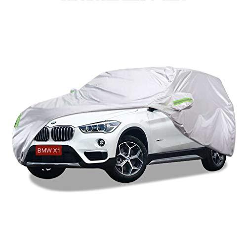 SXET-Cubierta de coche Cubierta del coche Impermeable UV Anti-arañazos Four Seasons Universal Cubierta del parabrisas Oxford Tela Cubierta de polvo BMW X1 Dedicado (Tamaño : 2016 BMW X1)