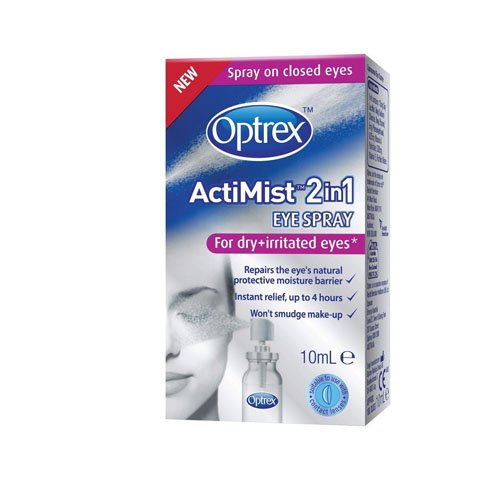 Optrex ActiMist 2-in-1 Dry Plus Irritated Eye Spray, 10 ml Test