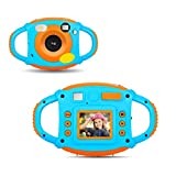 YinFun YF-ec3 - Cámara Digital HD para Niños, 1.77 HD Color, Pantalla 5 MP, Azul y naranja
