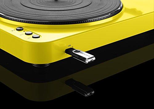 Lenco L-85 Color amarillo Tocadisco con USB