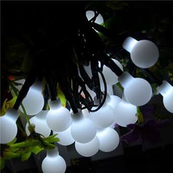 Winstech Guirlande lumineuse solaire boules 20 LED Blanc