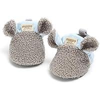 Yunnyp Zapatos de Calcetines Lindos de Animales de Dibujos Animados para niños y niñas Botines cálidos de Dibujos Animados de Invierno para bebés y niños con Zapatos de casa Antideslizantes para Cuna