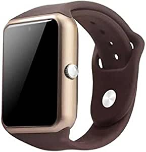 Stark A1 Smart Watch with SIM Card Slot And Camera Smartwatch(Brown Strap Regular)