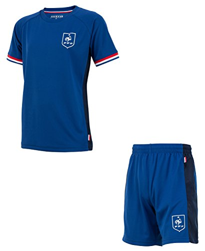 Equipe de FRANCE de football Ensemble Maillot + Short FFF - Collection Officielle Taille Enfant garçon 6 Ans