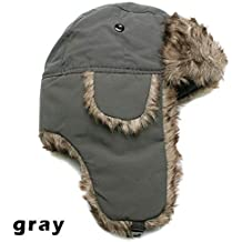 Amazon.it  Ushanka Hat - Grigio 54ba477dabef
