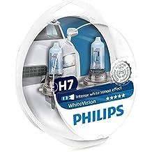 Set de 2 bombillas de efecto xenón para faros delanteros Philips H7 White Vision Ultra,