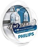 Set mit zwei Philips H7-Fahrzeugscheinwerferlampen WhiteVision Ultra und zwei W5W-Signallampen inklusive, 3700k