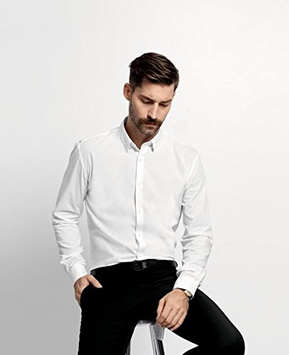 Selected Homme - Chemise business Homme - One Travis Dublin shirt ls NOOS ID Blanc (White)