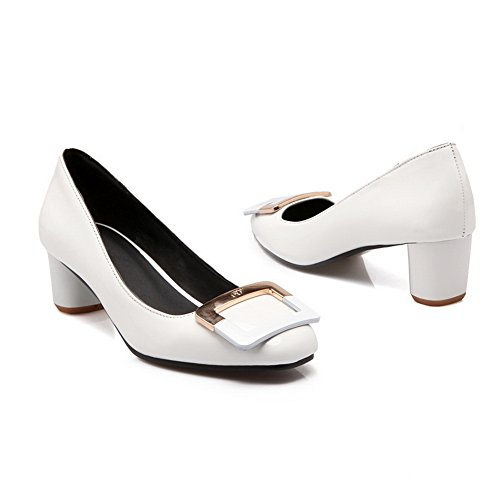 scarpe White pompe e BalaMasa per antiscivolo in pelle tacco basso U4wqzY