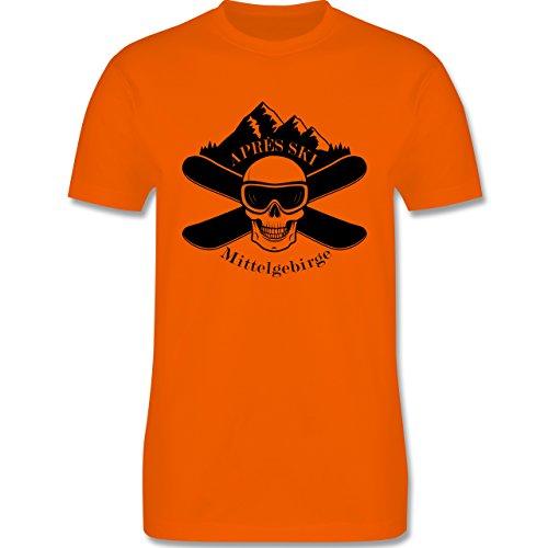 Après Ski - Apres Ski Mittelgebirge Totenkopf - Herren Premium T-Shirt Orange