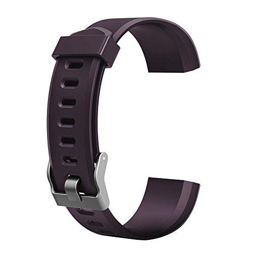 YOun Farbiges Armband, Ersatz-Zubehör für ID115Plus HR-Smart-Watch, violett, 180.00*100.00*20.00