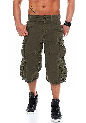 Jet Lag Herren Cargo Shorts 007 B Loose Fit olive XL -